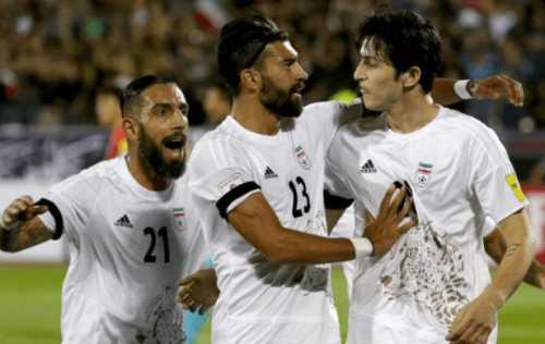 Azmoun goal for Iran against South Korea