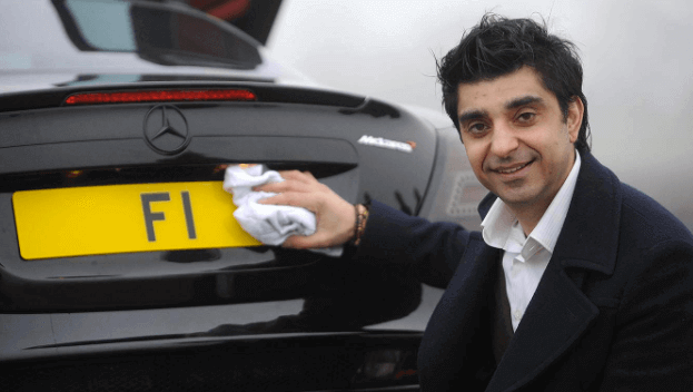 Most expensive UK license plates
