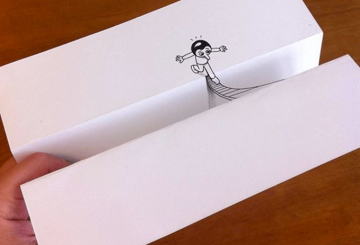 Clever 3D drawings to trick your mind