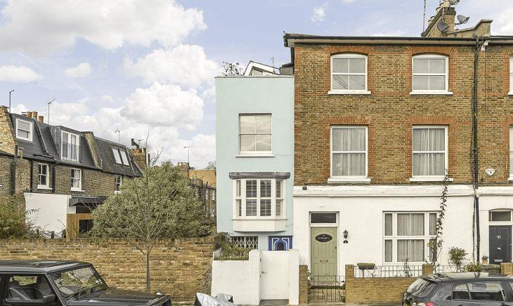 Million dollar 2-yard wide house in London