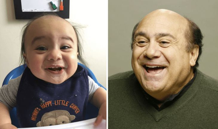 Baby and celebrity identical lookalikes