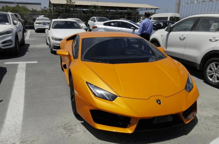 Supercars in island of Kish