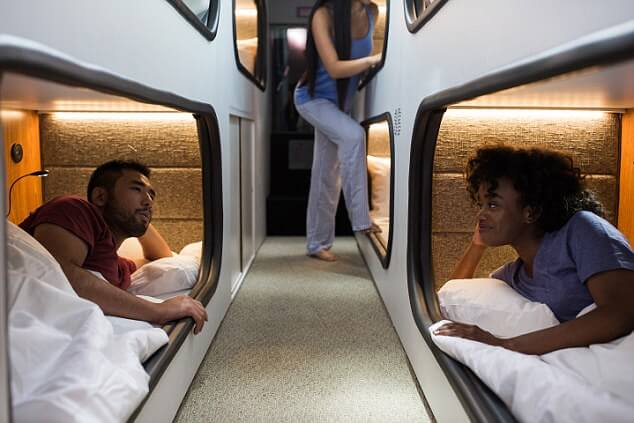 Five star 'moving hotel' sleeper bus