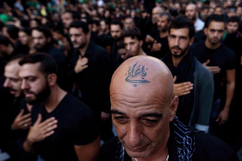 Shiite muslim tattoos in Lebanon