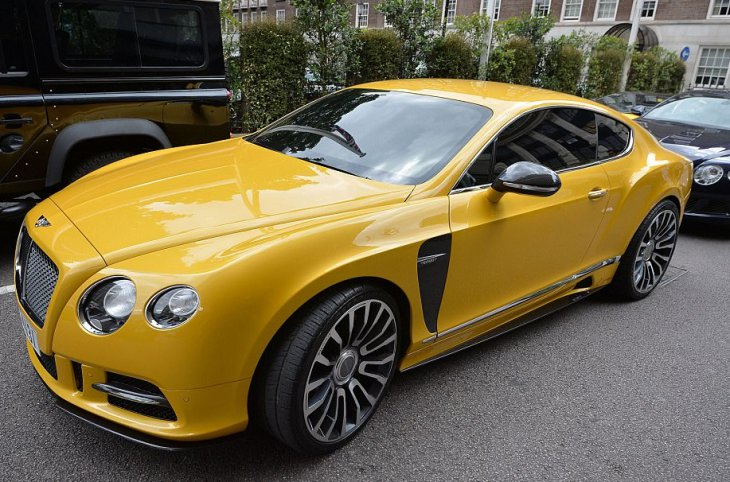 Middle-eastern supercars in London for summer