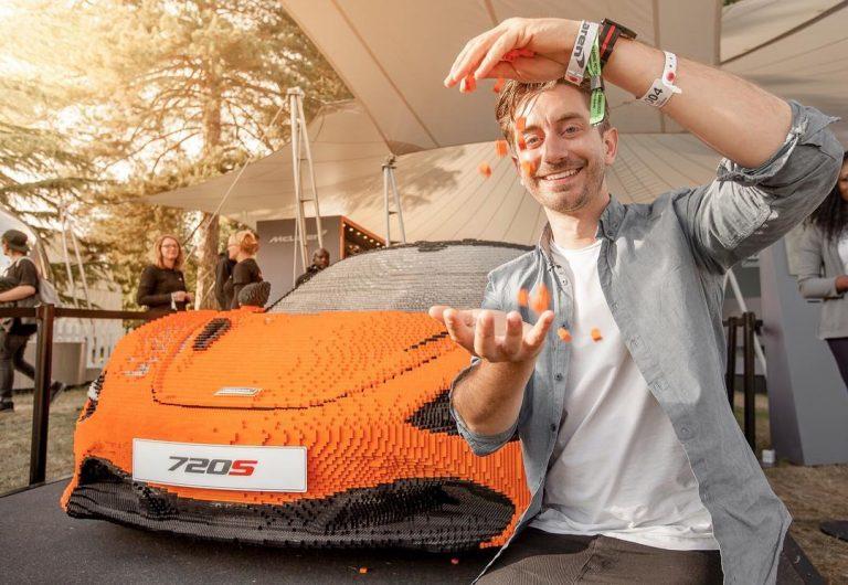 Life-size McLaren supercar in Lego