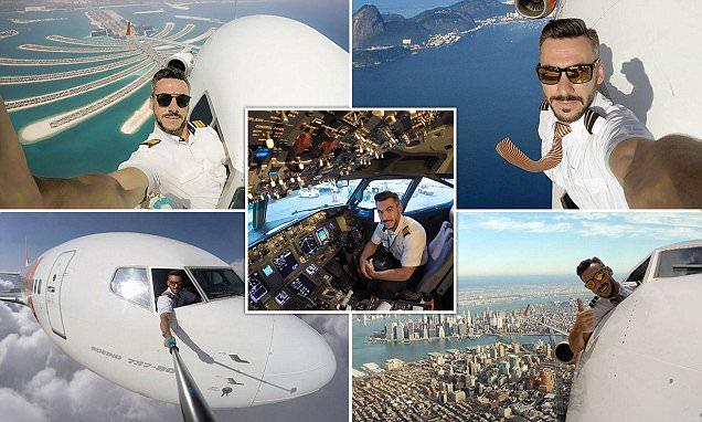 Brazilian pilot that takes crazy selfies