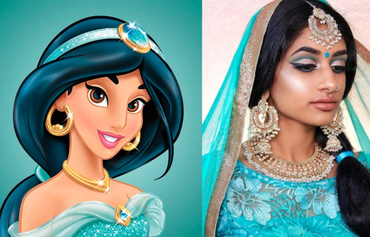 Indian model recreates disney characters