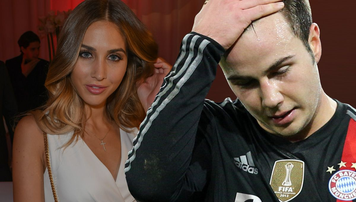 Young footballers with pretty girlfriends