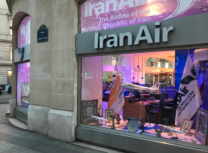 Iran Air sales offices around the world