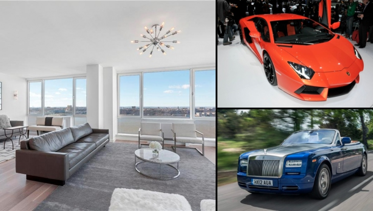 Luxury penthouse with brand new cars