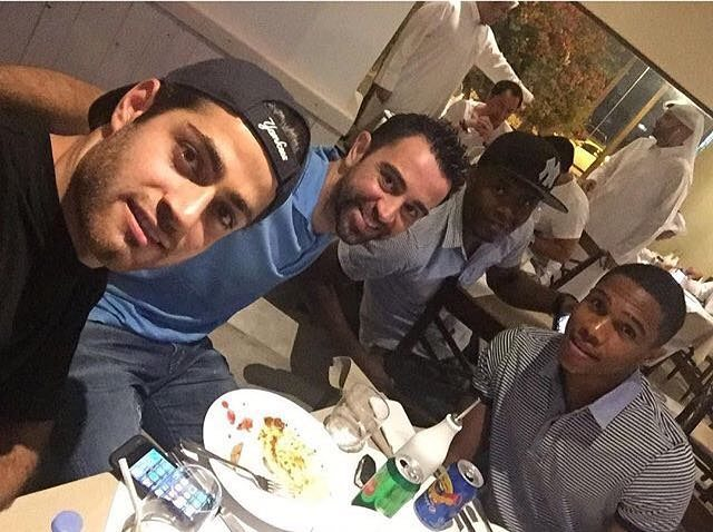 Team Melli star with best friend Xavi