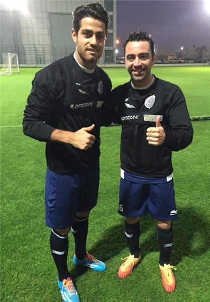 Team Melli star with best friend Xavi