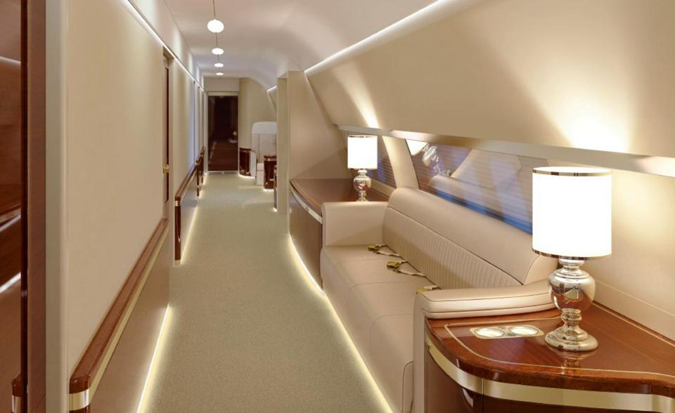 On board President Putin's lavish jet