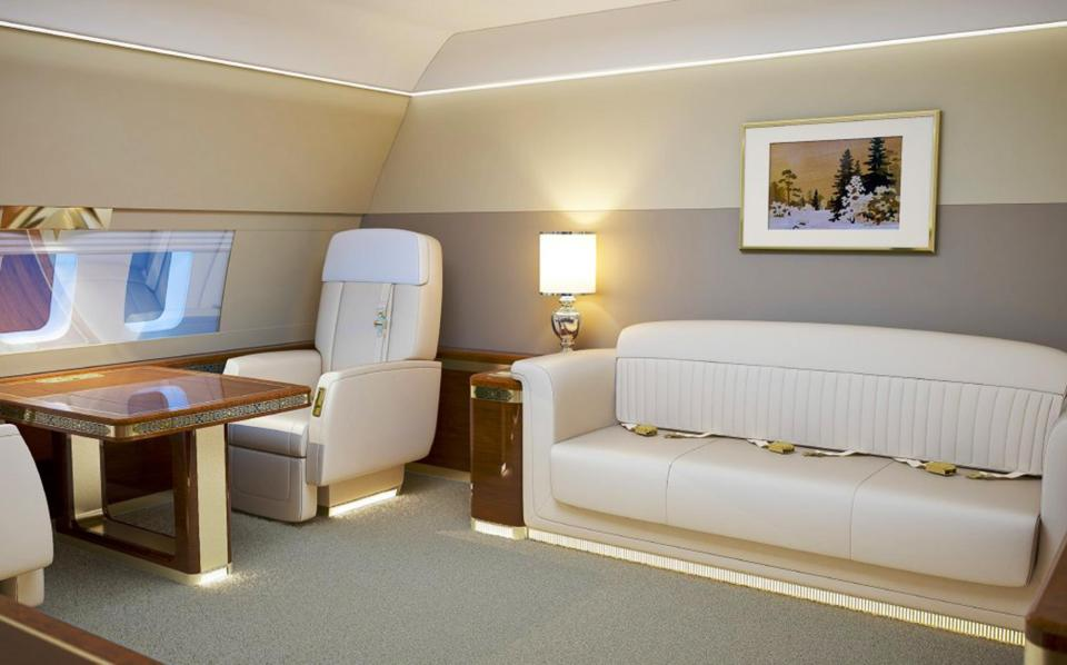 On board President Putin's lavish jet