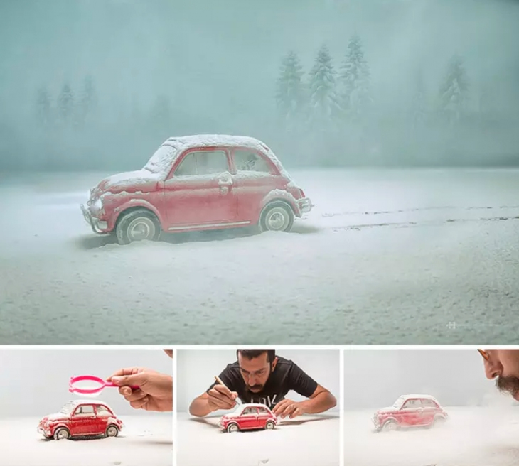 Surreal behind the scenes of miniature art