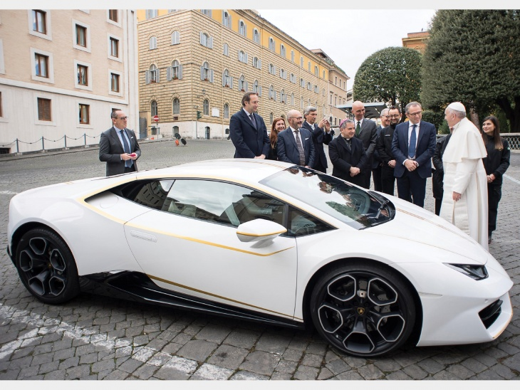 Win A Lamborghini Blessed By The Pope
