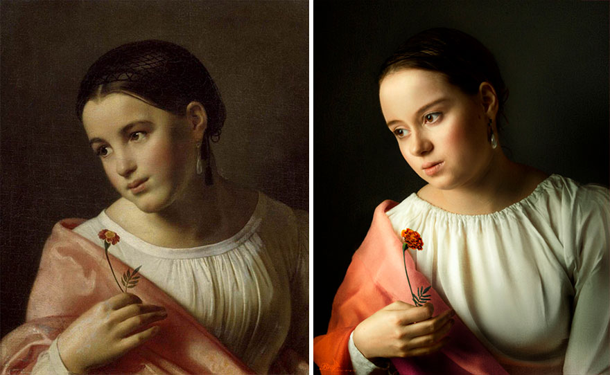 Famous and classic art work recreated