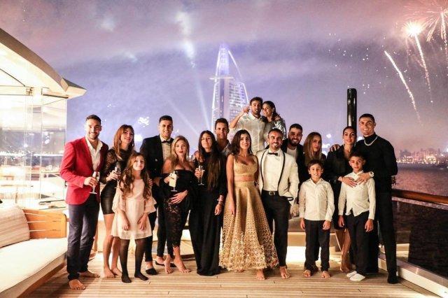 Ronaldo's New Years celebration in Dubai