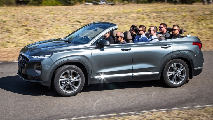 One-off Hyundai cabriolet for 7 people