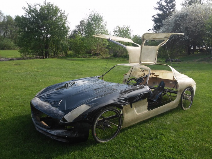Homemade Mercedes supercar bike without an engine