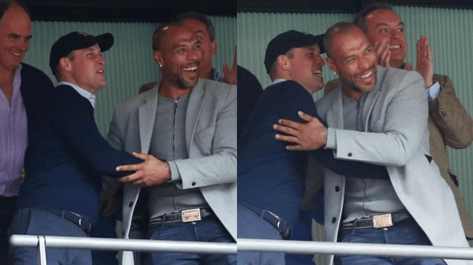 Prince William wildly celebrates his team's victory