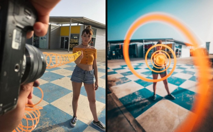 Tricks to make illusions within photos