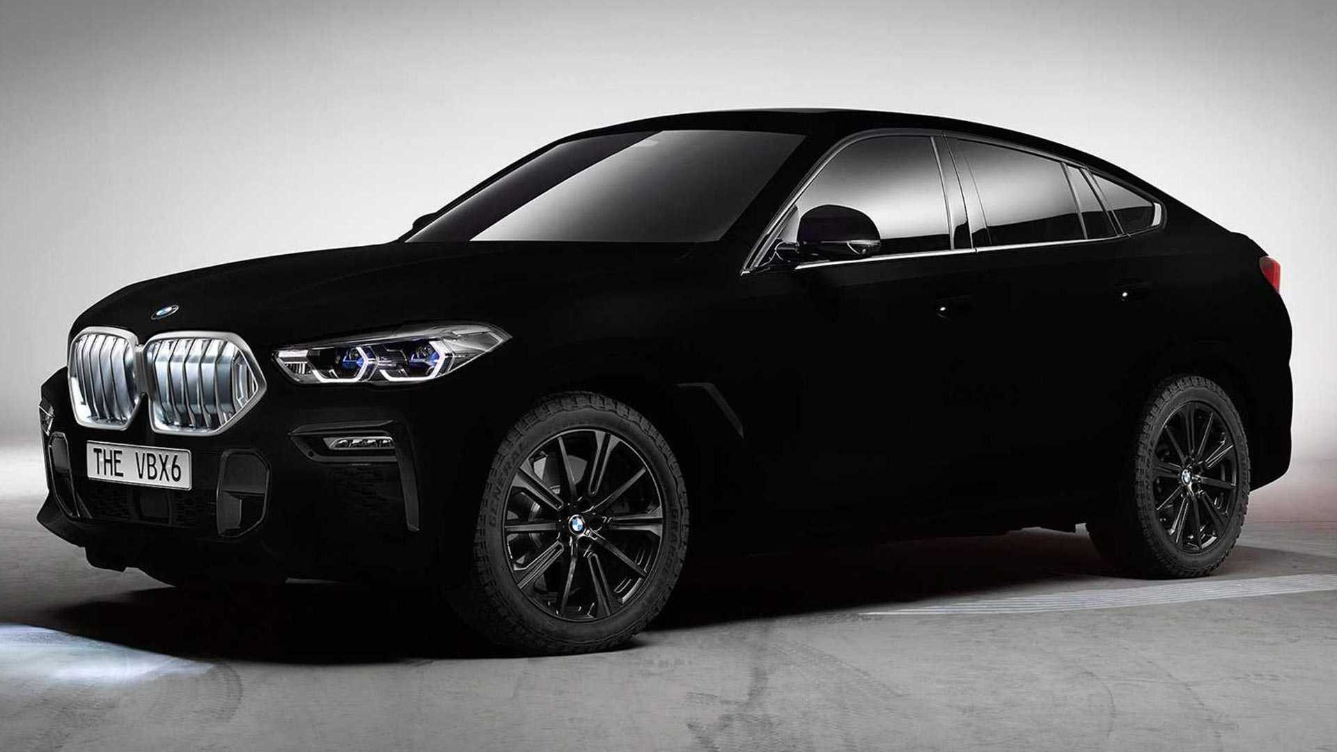 The darkest car in the world is a BMW