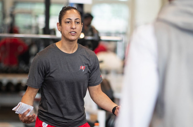 Female NFL conditioning coach Maral Javadifar