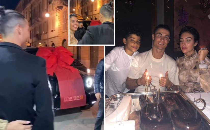 Ronaldo receives surprise new car for his birthday