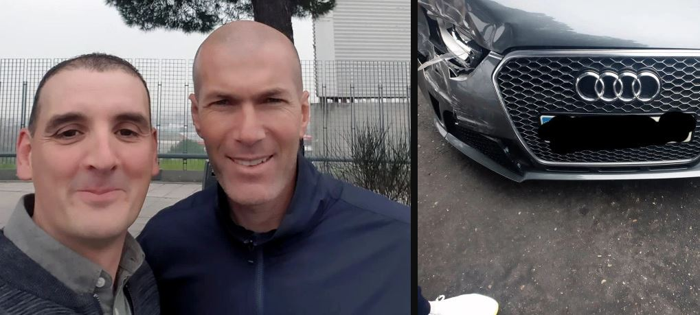Zidane involved in car crash on his way to training