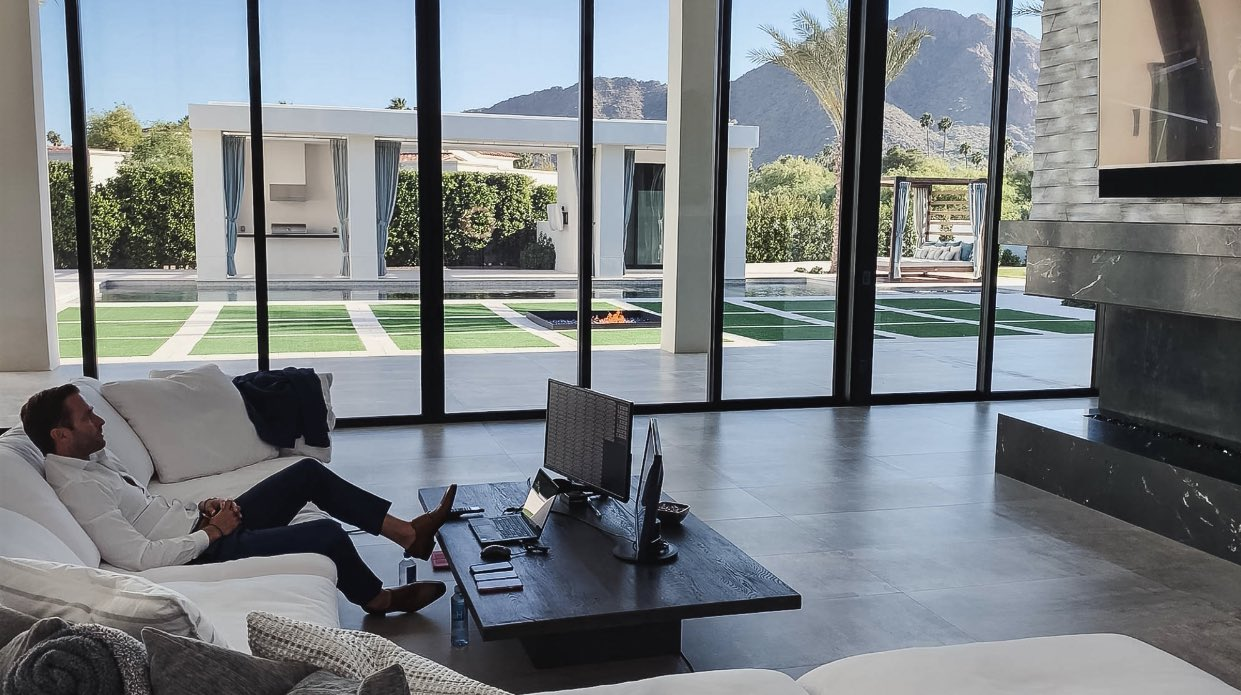 Best photos of the NFL draft in coaches homes