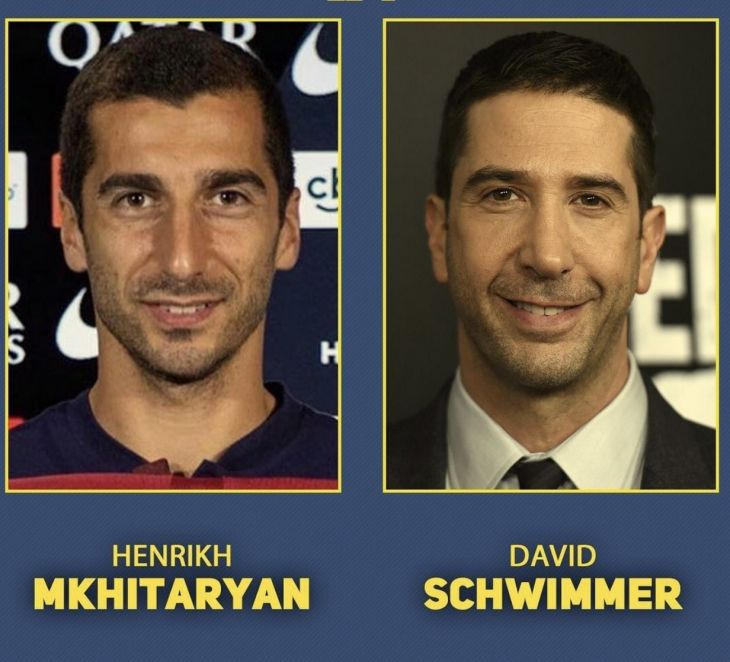 Footballers and celebrities that look identical