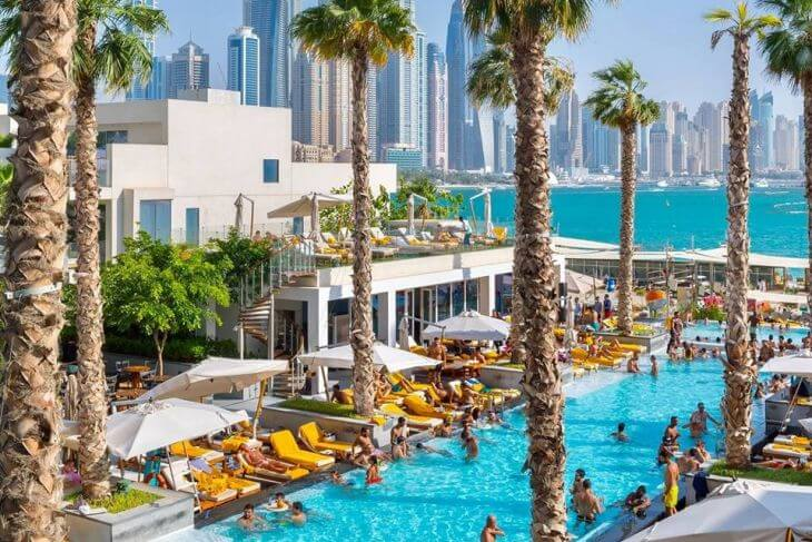 Dubai's best hotel pools with views