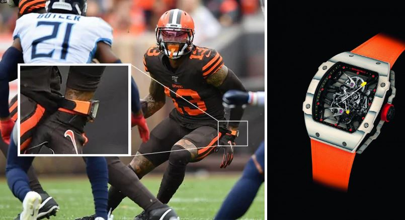 NFL star wears $300,000 watch during a game